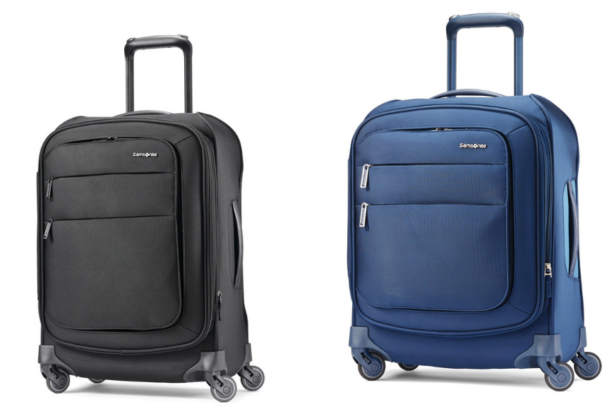 Samsonite flexis softside luggage with spinner wheels.