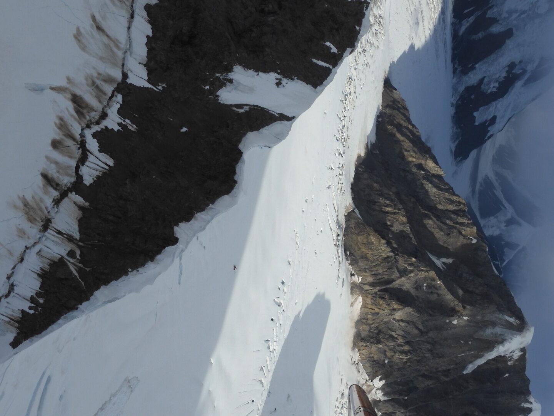Plane on glacier