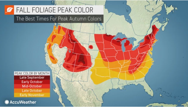 Accuweather fall foliage map 2019.