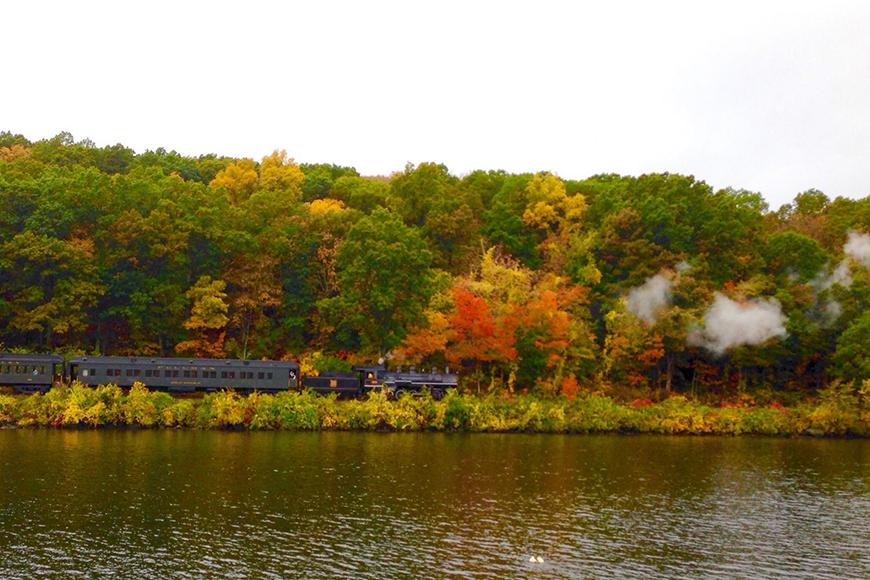 essex steam train autumn.