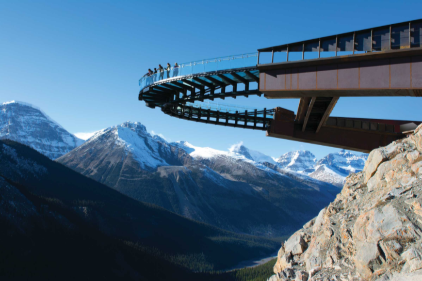 glacier skywalk jasper national park.