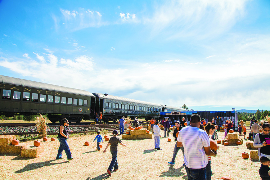 grand canyon railway pumpkin train.
