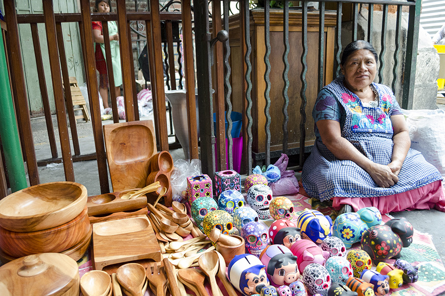 Market vendor in oaxaca,mexico