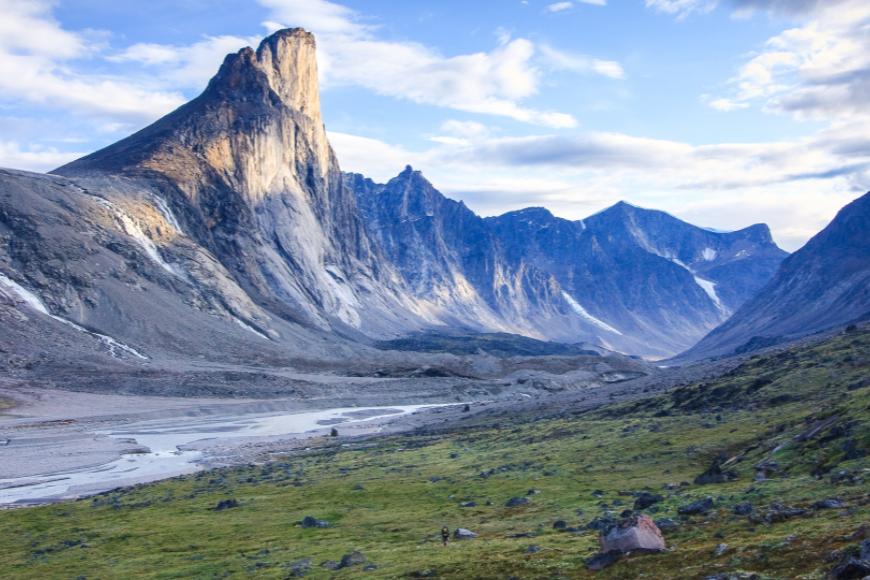 mount thor auyuittuq national park aunavut baffin island.