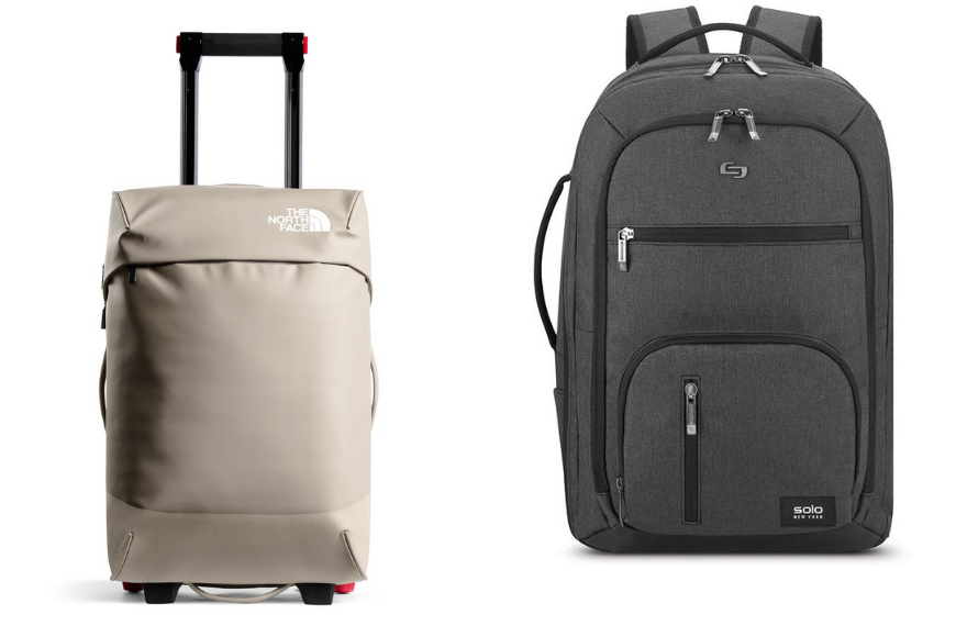 North face 20-inch stratoliner-m and solo new york grand travel tsa backpack.
