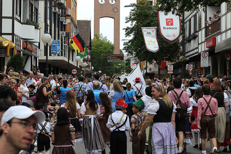 best places for oktoberfest celebrations: bluemenau, brazil.