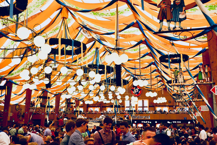 best places for oktoberfest celebrations: munich, germany.