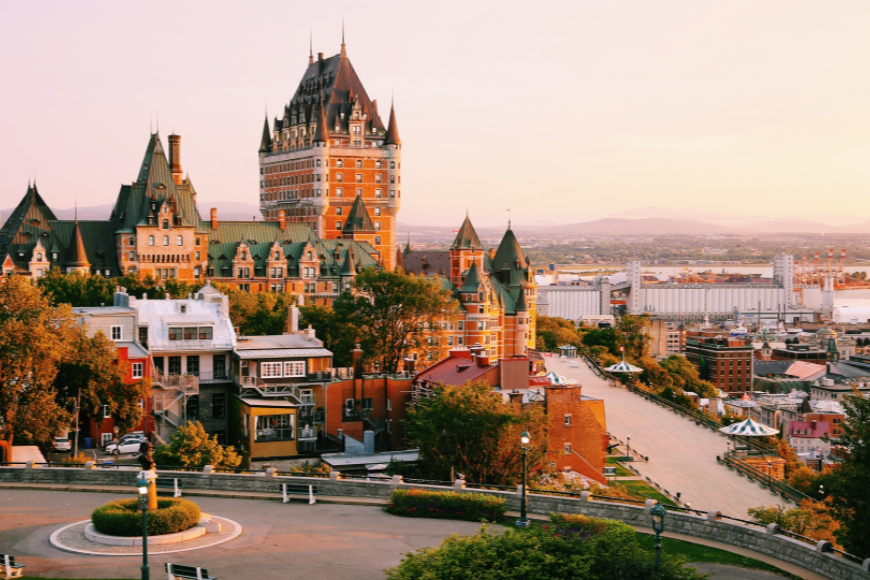 quebec city sunset quebec canada