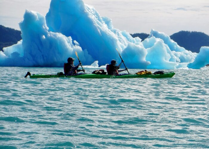 Sea kayaking in Valdez Alaska