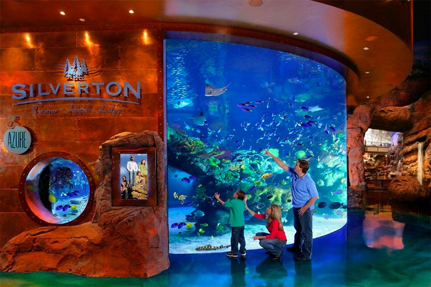aquarium at silverton hotel and casino.