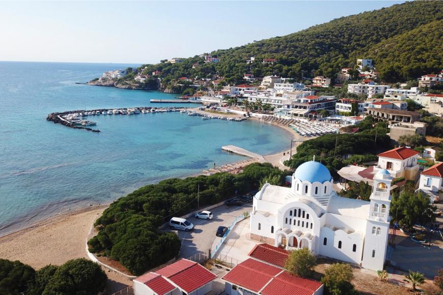 Skala agistiri island greece.