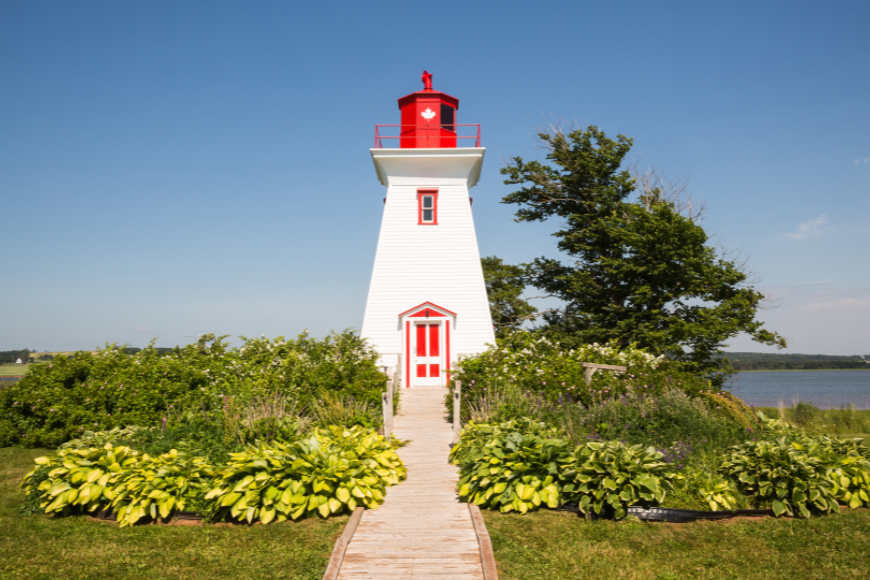 victoria by the sea lighthouse prince edward island canada.