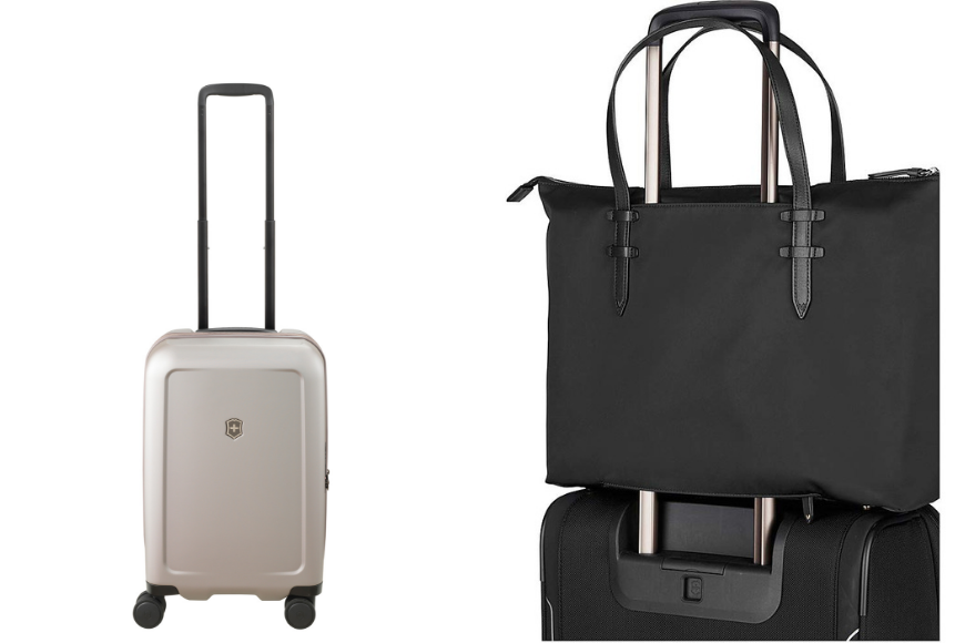 Victorinox connex frequent flyer hardside and victoria 2.0 deluxe business tote.