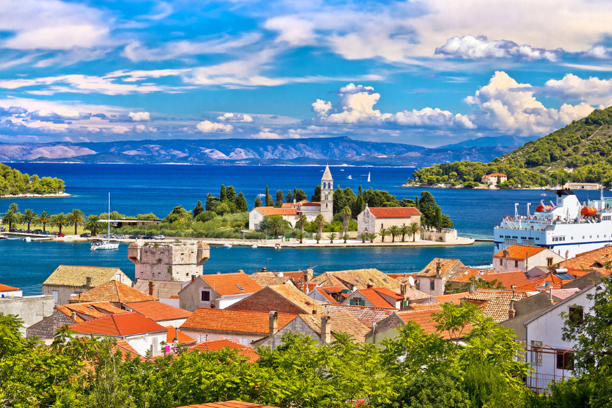 vis waterfront dalmatia croatia.