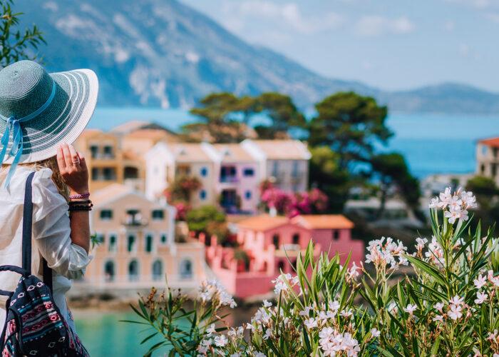 woman in kefalonia greece.