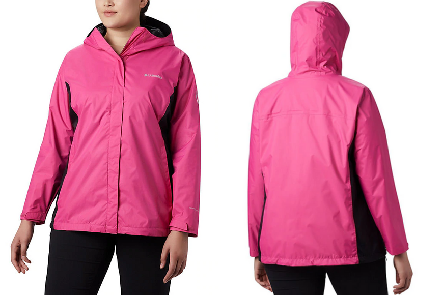 Columbia women's tested tough in pink rain jacket ii