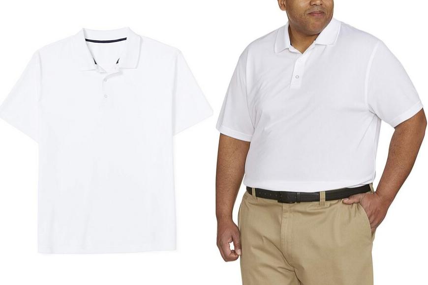 Amazon essentials men's big & tall quick-dry golf polo shirt