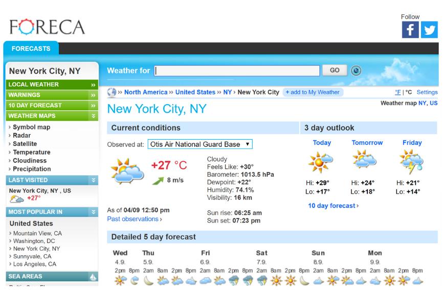 foreca weather app.