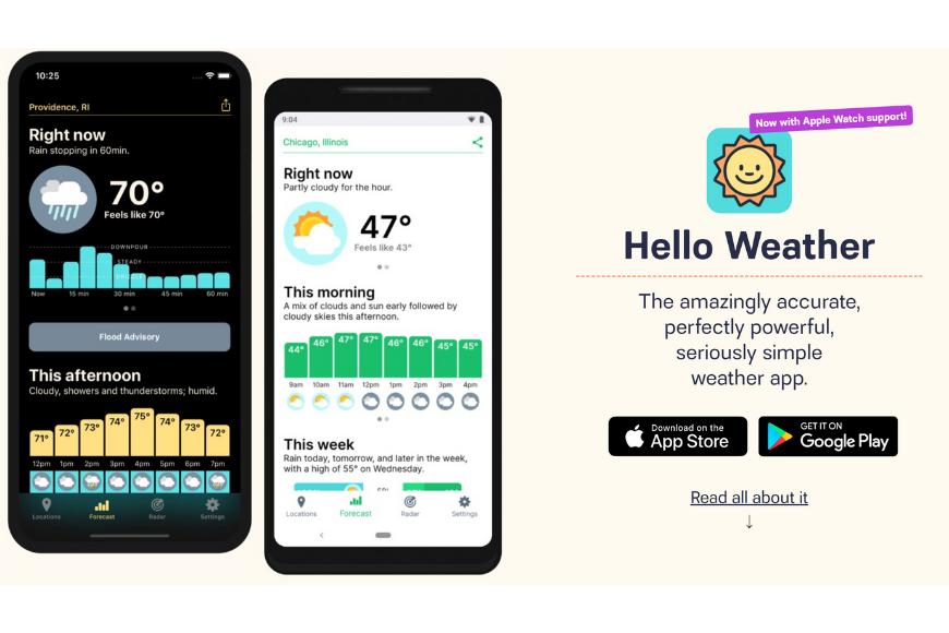 hello weather app.