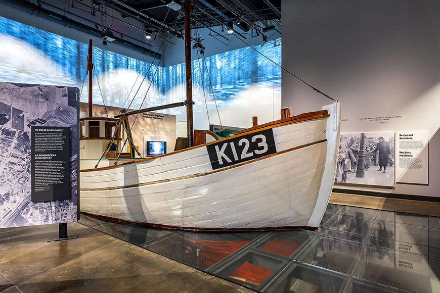 dutch rescue boat at holocaust museum houston.