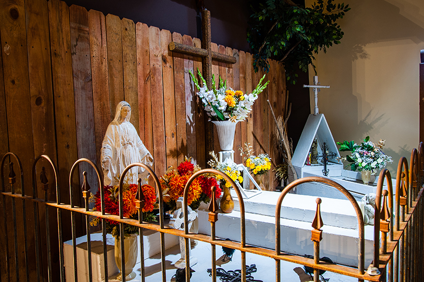 day of the dead display at national museum funeral history.
