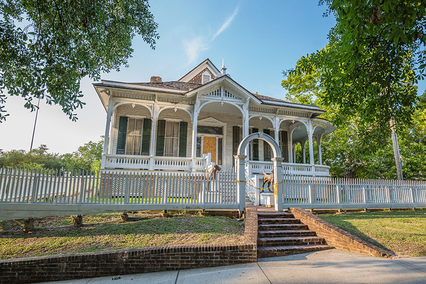 historic home in sam houston park.
