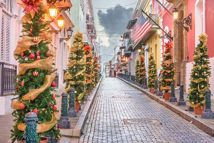 christmas decorations in san juan puerto rico.