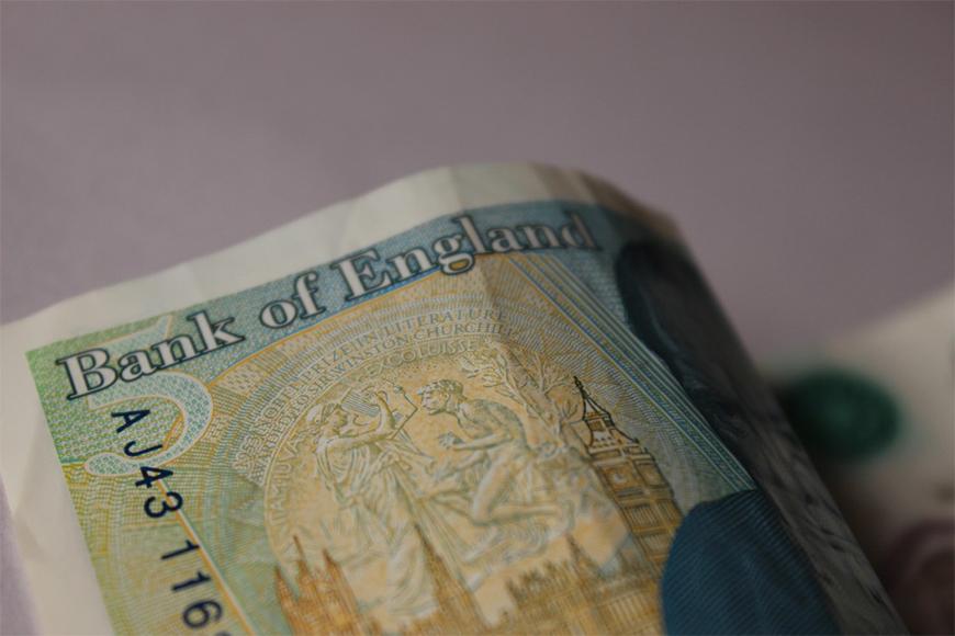 UK pounds counterfeit money.