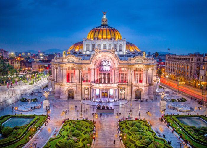 The Fine Arts Palace aka Palacio de Bellas Artes in Mexico City, Mexico