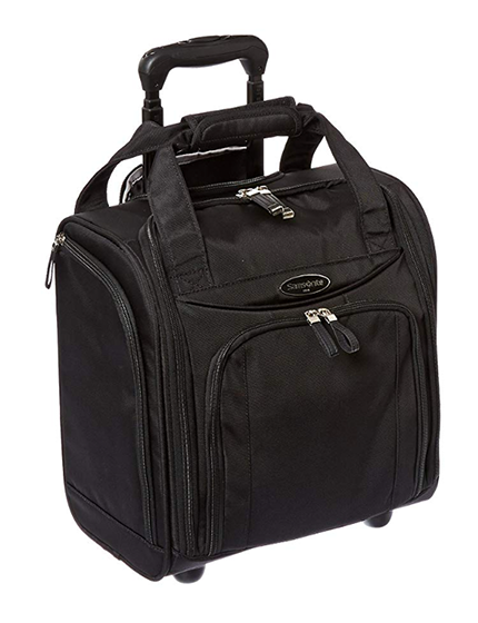Samsonite black wheeled underseater