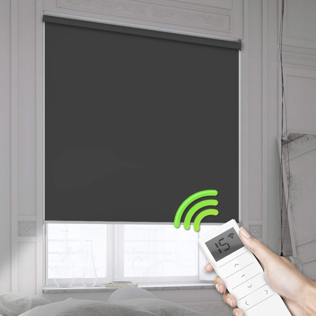 Remote control blackout blinds