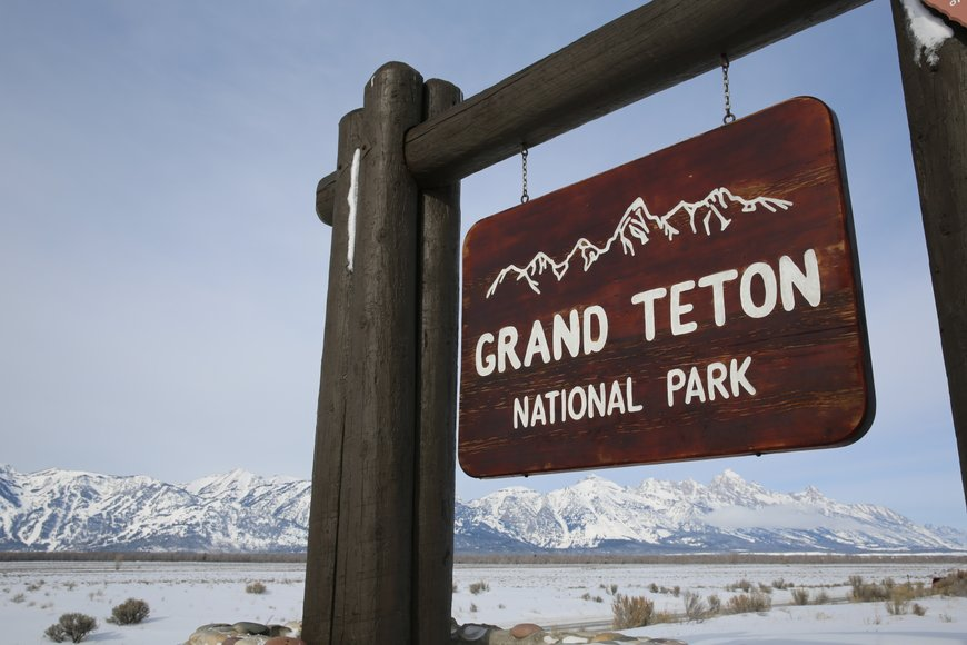 Grand teton national park sign.