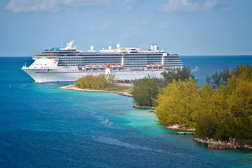cruise ship in caribbean.