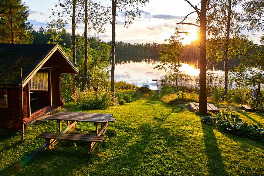 finland lake.