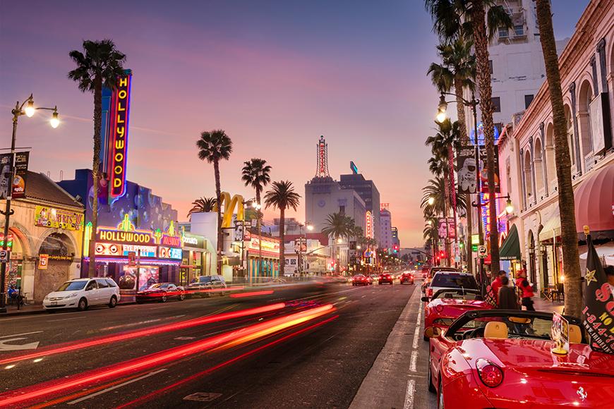 hollywood boulevard los angeles.