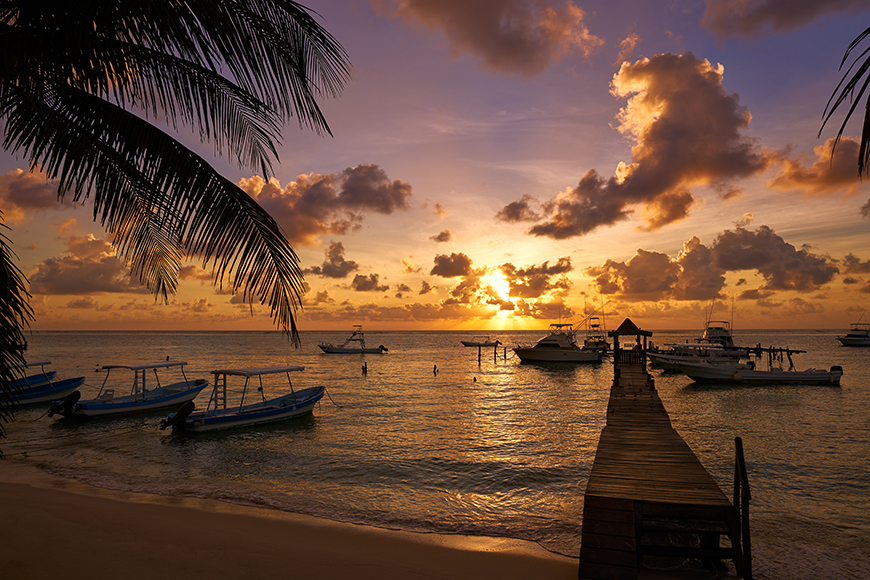 puerto morelos sunset.