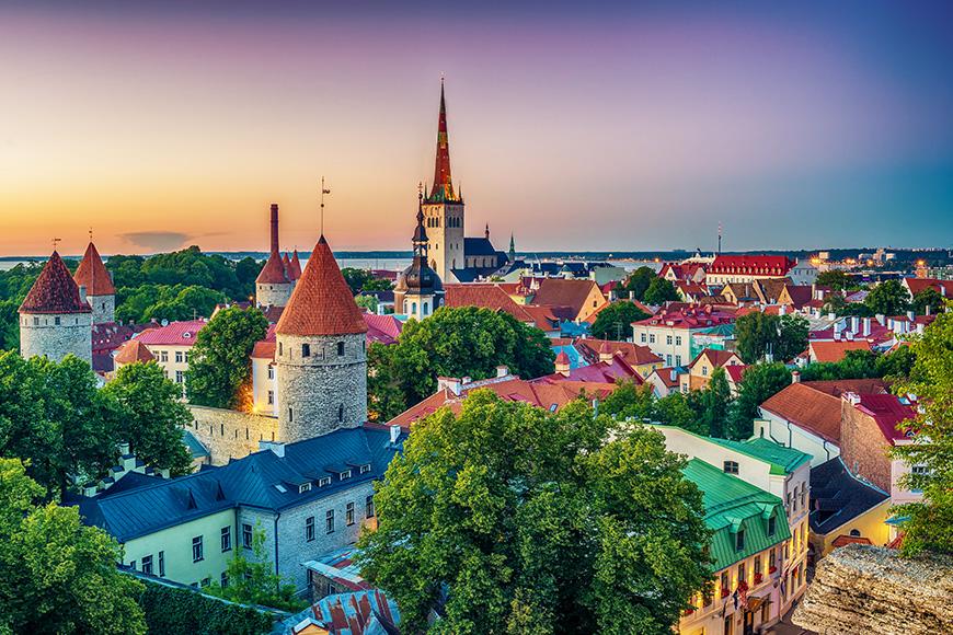 talinn estonia view of city