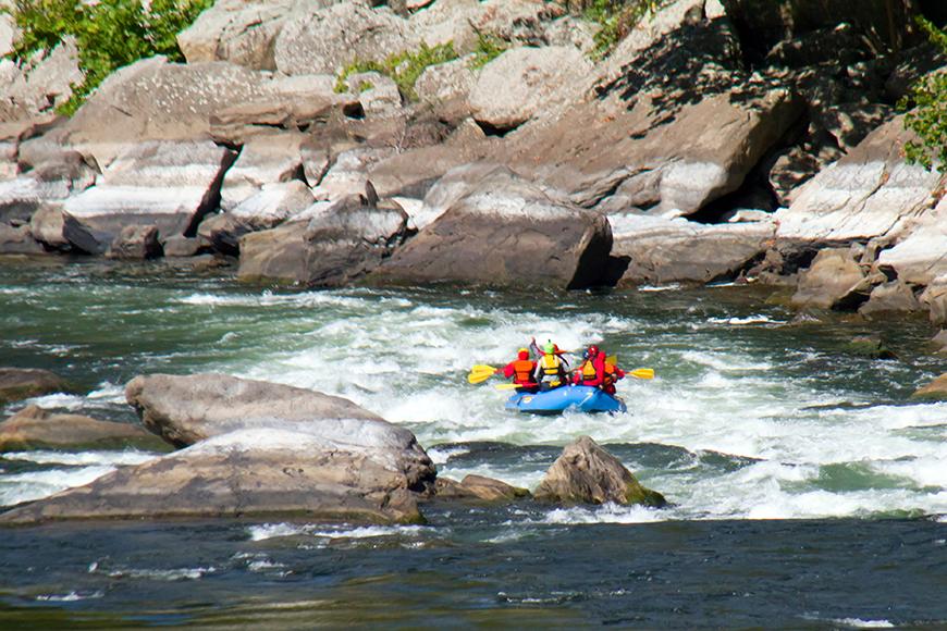 rafting in west virginia.