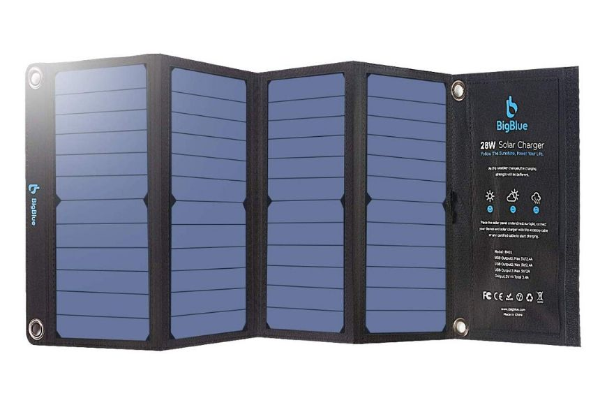 BigBlue 28w solar charger.