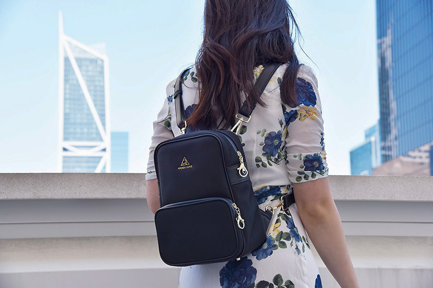 Arden cove backpack on a model