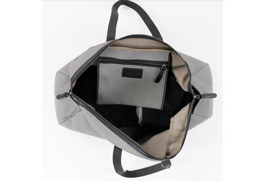 Everlane twill weekender bags.