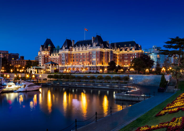 Fairmont Empress Exterior Night Shot