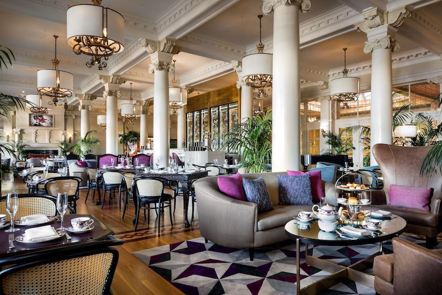 Lobby lounge at the fairmont empress in victoria