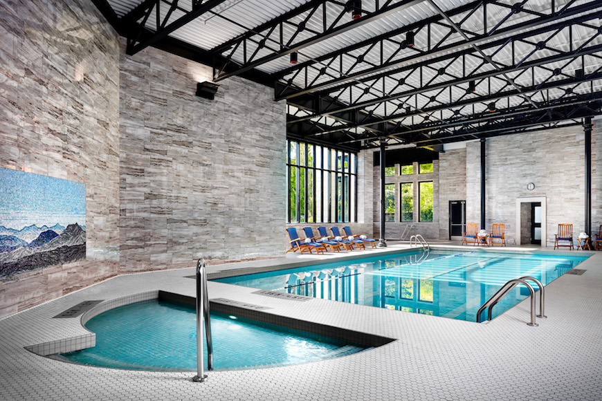 Pool at the fairmont empress
