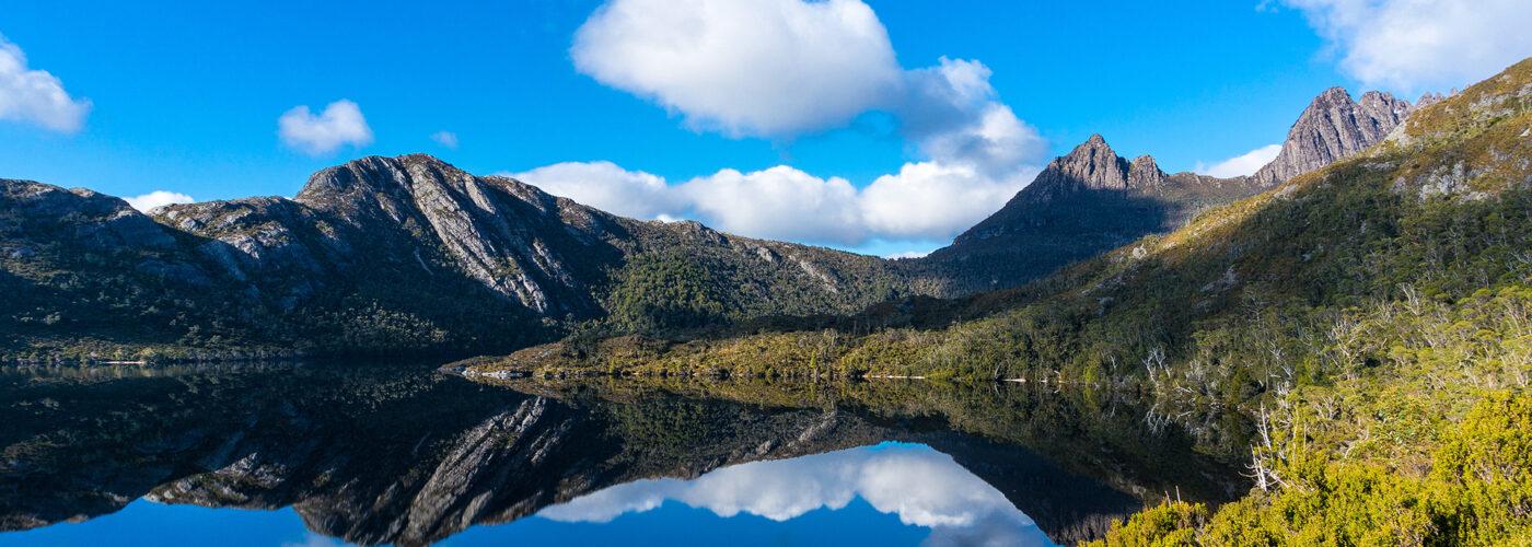 cradle mountain dove lake tasmania.