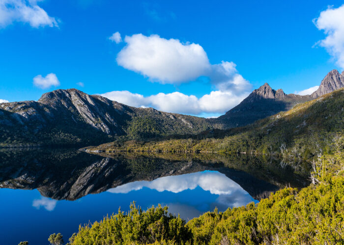 cradle mountain dove lake tasmania.