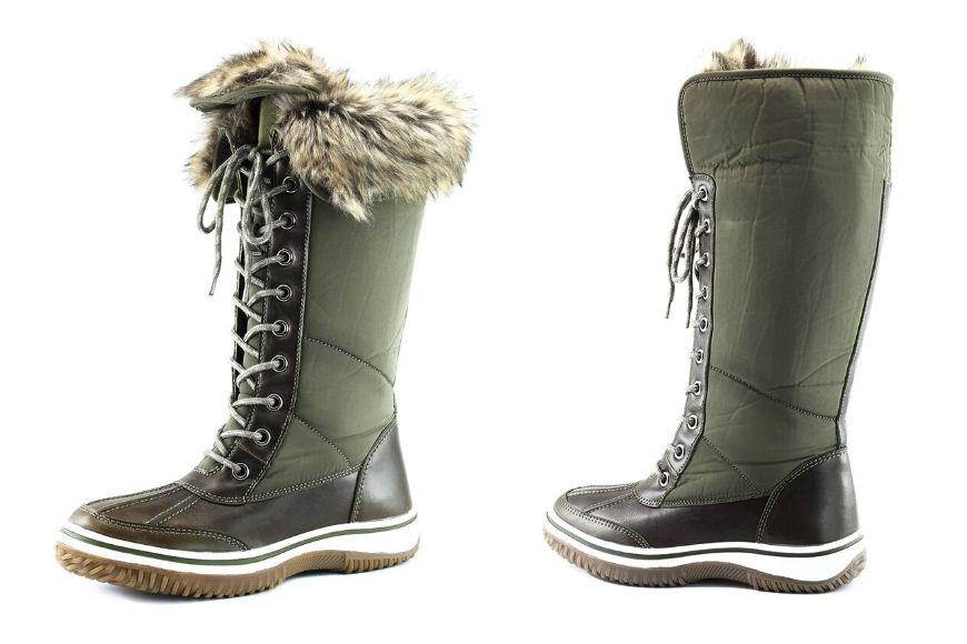 DailyShoes women's knee-high eskimo snow boots.