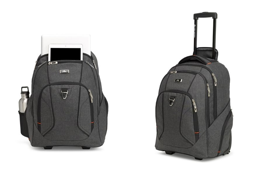 High sierra endeavor business wheeled backpack.