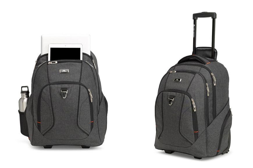 High sierra endeavor business wheeled backpack.