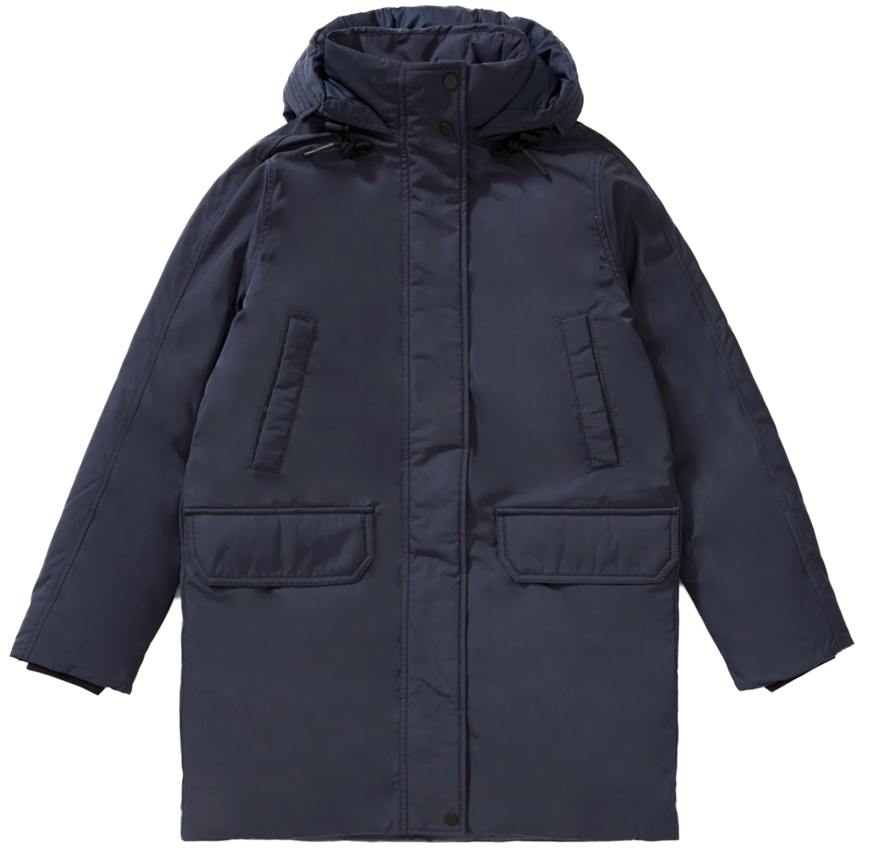 Agana Mens Thick Detachable Hooded Quilted Fleece Lined Winter Parka Coat